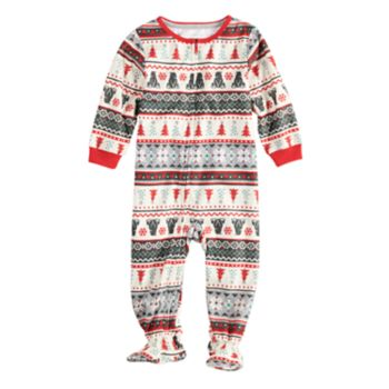 Baby/Infant Jammies For Your Families Polar Bear Fairisle Family Pajamas One-Piece Footed Pajamas by Cuddl Duds