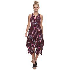 Juniors Can S Lace Up Hanky Hem Maxi Dress