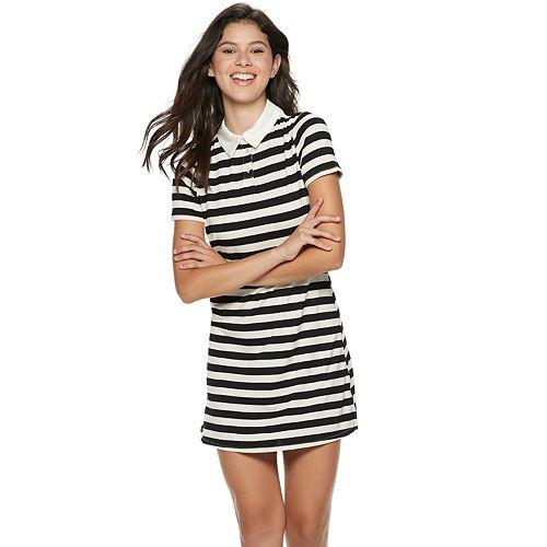 Juniors' Love, Fire Polo Short Sleeve Dress