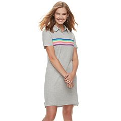 Juniors' Love, Fire Polo Short Sleeve Dress
