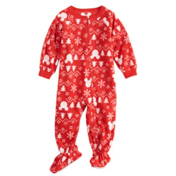 Disney's Mickey Mouse Baby/Infant Microfleece Fairisle Blanket Sleeper One-Piece Pajamas by Jammies For Your Families