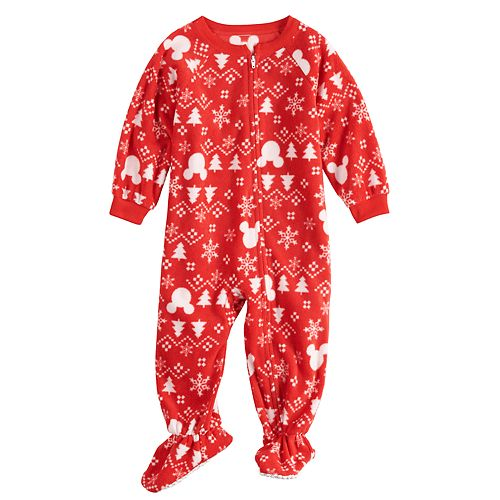 69e455817e Disney s Mickey Mouse Baby Infant Microfleece Fairisle Blanket Sleeper  One-Piece Pajamas by Jammies For Your Families