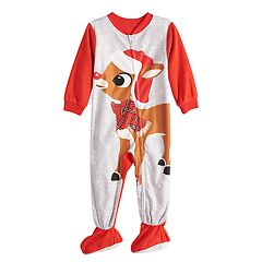 Baby/Infant Jammies For Your Families Rudolph the Red-Nosed Reindeer Blanket Sleeper One-Piece Pajamas
