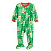 Baby/Infant Jammies For Your Families How the Grinch Stole Christmas Grinch Microfleece Blanket Sleeper One-Piece Pajamas