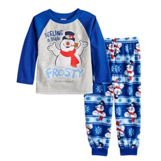 """Toddler Jammies For Your Families Frosty the Snowman """"Feeling a Little Frosty"""" Top & Microfleece Bottoms Pajama Set"""