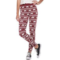 Juniors' Pink Republic Fleece-Lined Leggings