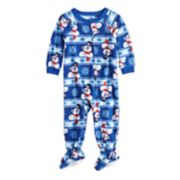 Baby/Infant Jammies For Your Families Frosty the Snowman Microfleece Blanket Sleeper One-Piece Pajamas