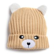 Women's SO® Bear Face Knit Beanie