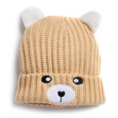 Women's SO® Bear Face Knit Beanie