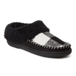 Women's Dearfoams Plaid Whipstitch Clog Slippers