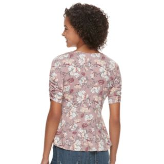 Juniors' American Rag Floral Wrap Top