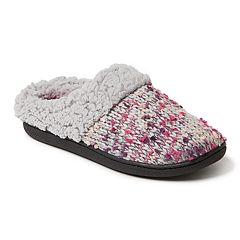 Women's Dearfoams Chunky Tweed Knit Clog Slippers