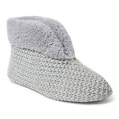 Women's Dearfoams Textured Knit Bootie Slippers