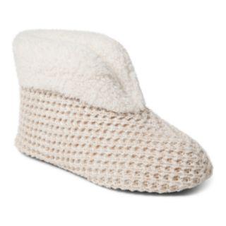 Women's Dearfoams Textured Knit Bootie Slippers