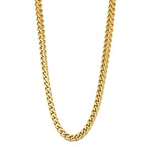 Men's Yellow Ion-Plated Stainless Steel Franco Chain Necklace - 24 in.