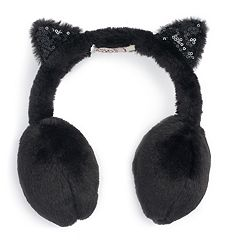 Women's SO® Sequin & Faux Fur Cat Ear Muffs