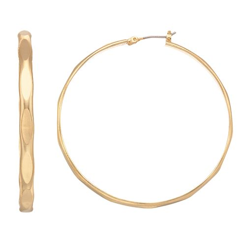 Napier Brushed Hoop Earrings
