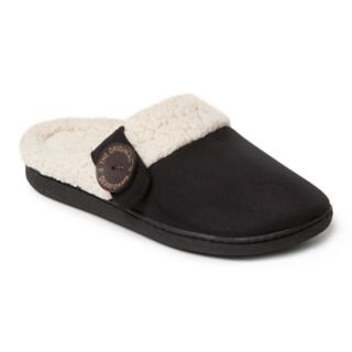 Women's Dearfoams Button Tab Microsuede Clog Slippers