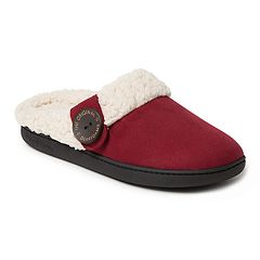 Women's Dearfoams Button Tab Microsuede Clog Slippers