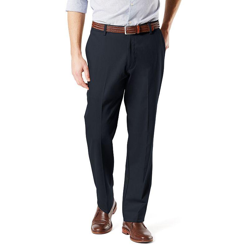 Men's Dockers Signature Khaki Lux Classic-Fit Stretch Pants. Size: 30 X 32. Blue