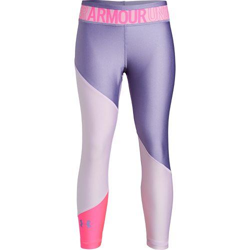 Girls Under Armour HeatGear® Armour Colorblock Ankle Leggings