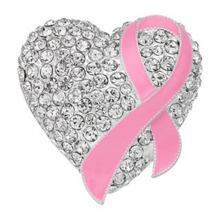 Napier Silver Tone Breast Cancer Awareness Pink Ribbon Pin