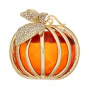 Napier Gold Tone Pumpkin Pin