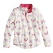 Girls 4-12 Jumping Beans® 1/4 Zip Printed Fleece Pullover