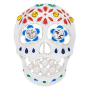 Napier Silver Tone Day of the Dead Skull Pin
