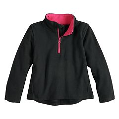 Girls 4-12 Jumping Beans® 1/4 Zip Solid Fleece Pullover