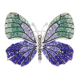 Napier Silver Tone Butterfly Pin