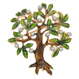 Napier Gold Tone Tree Pin