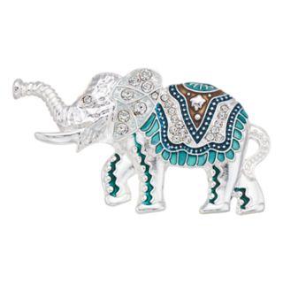 Napier Silver Tone Elephant Pin