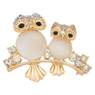 Napier Gold Tone Owl Pin
