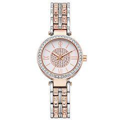 Jennifer Lopez Women's Bethany Crystal Two Tone Watch