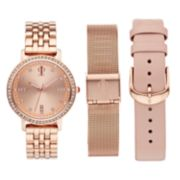 Jennifer Lopez Women's  Crystal Watch & Interchangeable Band Set