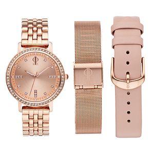 Jennifer Lopez Women's  Crystal Watch & Interchangeable Band Set