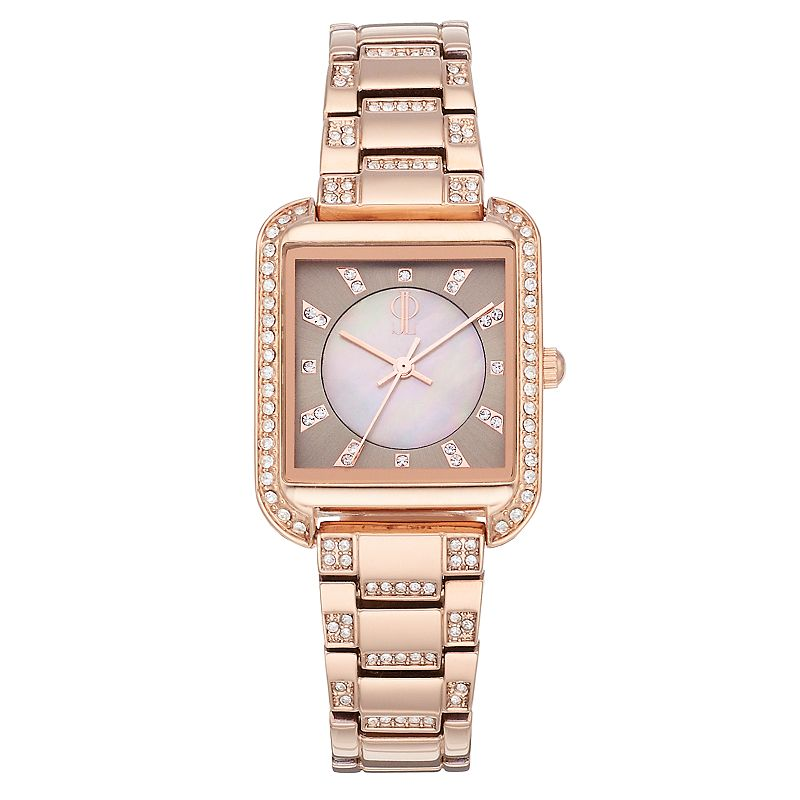 Jennifer Lopez Women's Evie Crystal Watch, Size: Small, Pink -  FMDJL718
