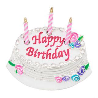 Napier Silver Tone Birthday Cake Pin