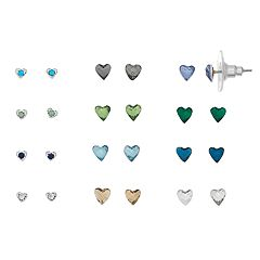 LC Lauren Conrad Heart Stud Earring Set