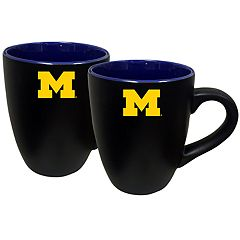 Michigan Wolverines Two-Tone Coffee Mug Set