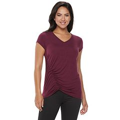 Women's Rock & Republic® Asymmetrical Ruched Tee
