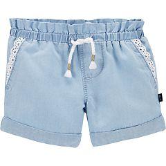 Baby Girl OshKosh B'gosh® Eyelet Chambray Shorts