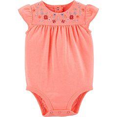 Baby Girl OshKosh B'gosh® Floral Embroidered Bodysuit