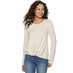 Juniors' SO® Twist Front Hatchi Cozy Top