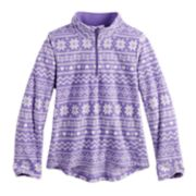 Toddler Girl Jumping Beans® 1/4 Zip Printed Fleece Pullover