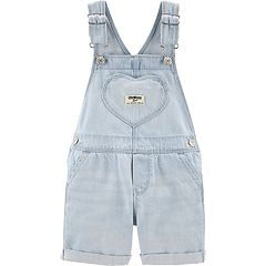 77b5f3712e07 Baby Girl OshKosh B gosh® Heart Denim Shortalls