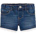 Baby Girl OshKosh B'gosh® Eyelet-Trim Denim Shorts