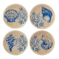 Certified International Seaside 4-piece Canape Plate Set