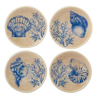 Certified International Seaside 4-piece Canape Plate Set
